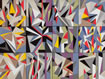 3x4 Array- an arrangement of 12 small paintings